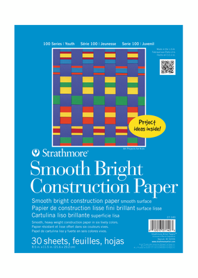 Strathmore Strathmore Kids Smooth Bright Construction Paper Pad 8.5 x 11 Inch