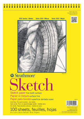 Strathmore Strathmore Sketch Paper Pad 300 Series Spiral Bound  9 x 12 Inch