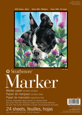 Strathmore Strathmore Marker Paper Pad 400 Series 9 x 12 Inch