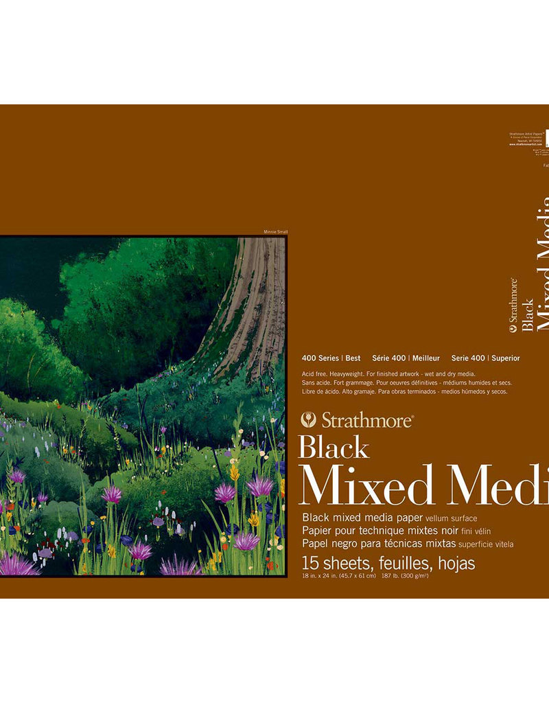 Strathmore Strathmore Mixed Media Black Paper Pad 400 Series 18 x 24 Inch