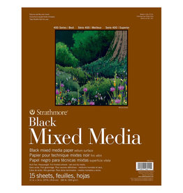 Strathmore Strathmore Mixed Media Black Paper Pad 400 Series 11 x 14 Inch