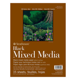 Strathmore Strathmore Mixed Media Black Paper Pad 400 Series 9 x 12 Inch