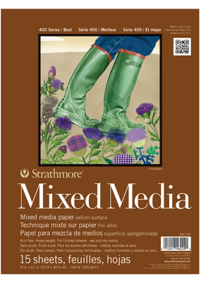Strathmore Strathmore Mixed Media Paper Pad 400 Series 9 x 12 Inch