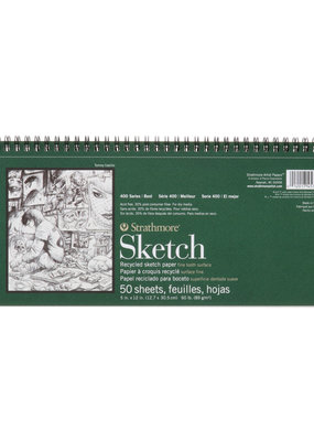 Strathmore Strathmore Sketch Paper Pad 400 Series Recycled 5.5 X 12 Inch