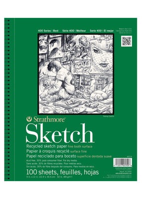 Strathmore Strathmore Sketch Paper Pad 400 Series Recycled 9 x 12 Inch