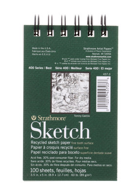 Strathmore Strathmore Sketch Paper Pads 400 Series Recycled 3.5 x 5 Inch