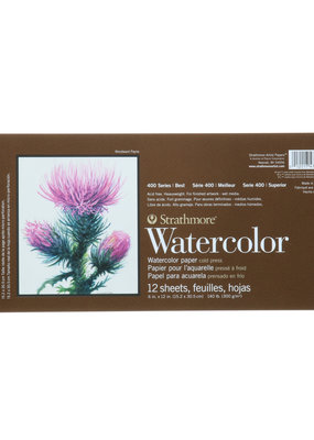 Strathmore Strathmore Watercolor Paper Pad 400 Series Spiral Bound 6 x 12 Inch
