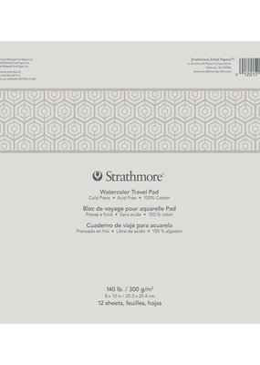 Strathmore Strathmore Watercolor Paper Travel Pad 500 Series 8 x 10 Inch
