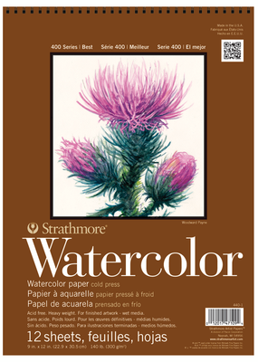Strathmore Strathmore Watercolor Paper Pad 400 Series Spiral Bound 9 x 12 Inch