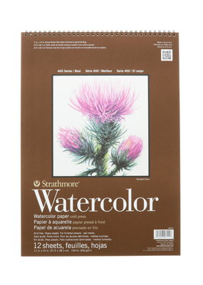 Strathmore Strathmore Watercolor Paper Pad 400 Series Spiral Bound 11 x 15 Inch