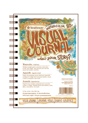 Strathmore Strathmore Visual Journal 90 lb. Cold Press Watercolor Paper 5.5 x 8 Inch