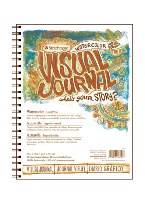 Strathmore Strathmore Visual Journal 140 lb. Cold Press Watercolor Paper 9 x 12 Inch