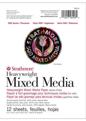 Strathmore Strathmore Mixed Media Paper Pad 500 Series 6 x 8 Inch
