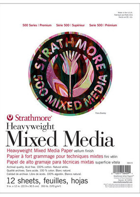 Strathmore Strathmore Mixed Media Paper Pad 500 Series 9 x 12 Inch
