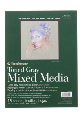 Strathmore Strathmore Toned Gray Mixed Media Pad 9 x 12 Inch