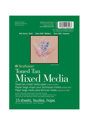 Strathmore Strathmore Toned Mixed Media Tan Paper Pad 400 Series 6 x 8 Inch