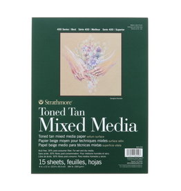Strathmore Strathmore Toned Tan Mixed Media Paper Pad 400 Serie 9 x 12 Inch