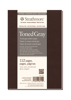 Strathmore Strathmore Softcover Toned Gray Art Journals 400 Seriesl 5.5 x 8 Inch