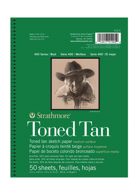 Strathmore Strathmore Toned Sketch Tan Paper Pad 400 Series 5.5 X 8.5 Inch