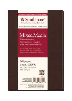 Strathmore Strathmore  Softcover Mixed Media Art Journal 500 Series 5.5 x 8 Inch