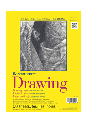 Strathmore Strathmore Drawing Paper Pad 300 Series 9 x 12 Inch