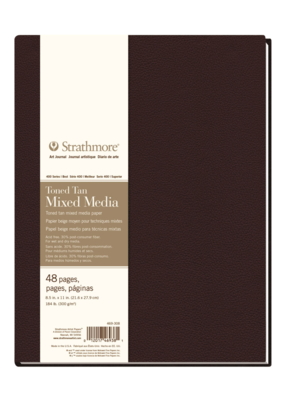Strathmore Strathmore Hard Bound Mixed Media Toned Tan Art Journal 400 Series 8.5 x 11 Inch