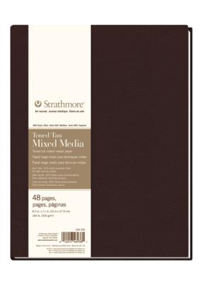 Strathmore Strathmore Hard Bound Mixed Media Toned Tan Art Journal 400 Series 8.5 x 11 Inch