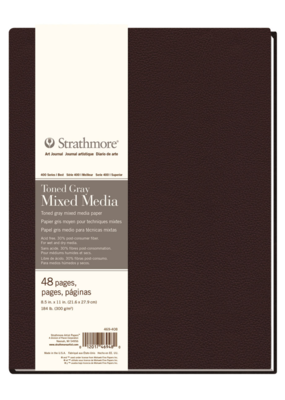 Strathmore Strathmore Hard Bound Mixed Media Toned Gray Art Journals 400 Series 8.5 x 11 Inch