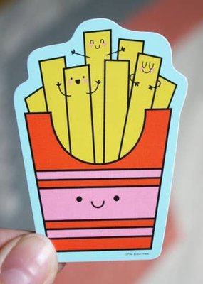 Free Period Press Vinyl Sticker Fries