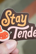 Free Period Press Vinyl Sticker Stay Tender