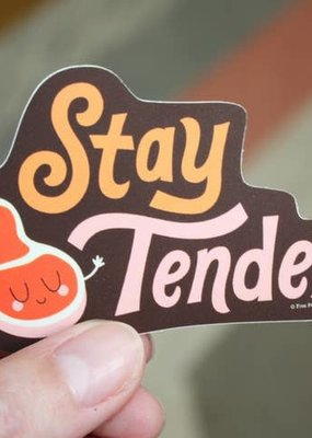 Free Period Press Vinyl Sticker Stay Tender