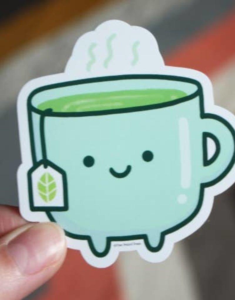 Free Period Press Vinyl Sticker Tea