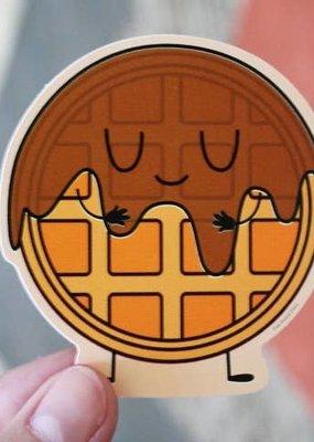 Free Period Press Vinyl Sticker Waffle