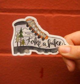 KPB Designs Sticker Hiking Boot
