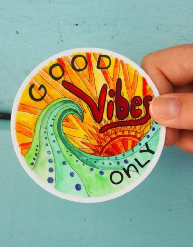 KPB Designs Sticker Good Vibes Only