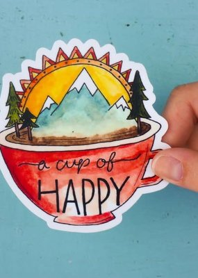 KPB Designs Sticker Cup Of Happy