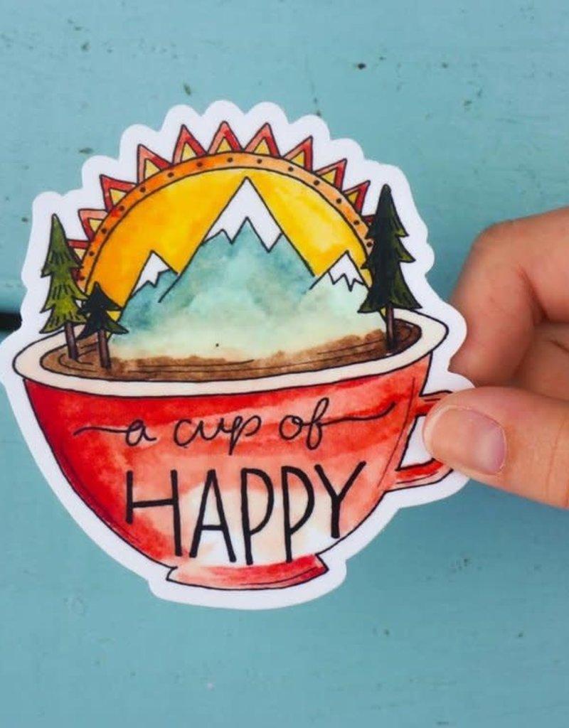 KPB Designs Sticker Cup Of Happy