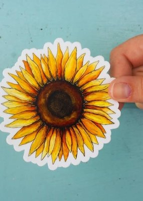 KPB Designs Sticker Sunflower
