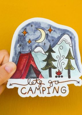 KPB Designs Sticker Lets Go Camping