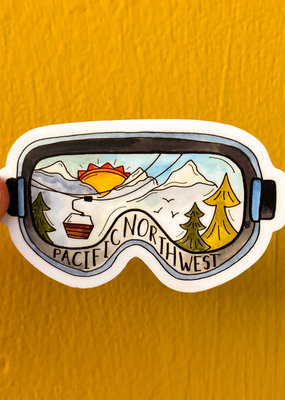 KPB Designs Sticker PNW Goggles