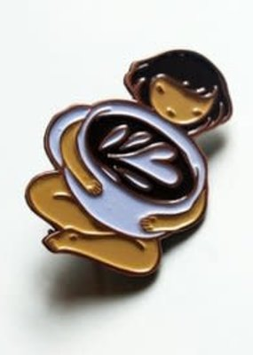 Stasia Burrington Enamel Pin Coffee Girl