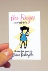 Stasia Burrington Enamel Pin The Finger