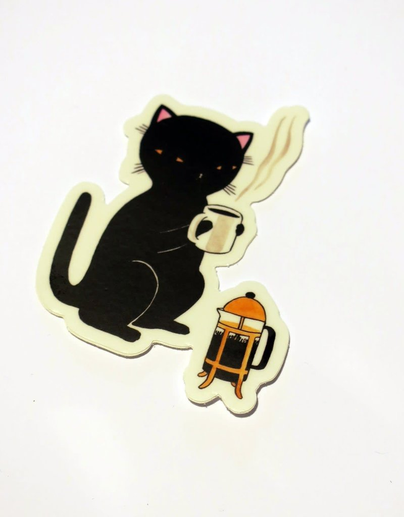 Stasia Burrington Sticker Coffee Cat