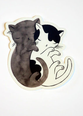 Stasia Burrington Sticker Kitty Hug Cat Spoon