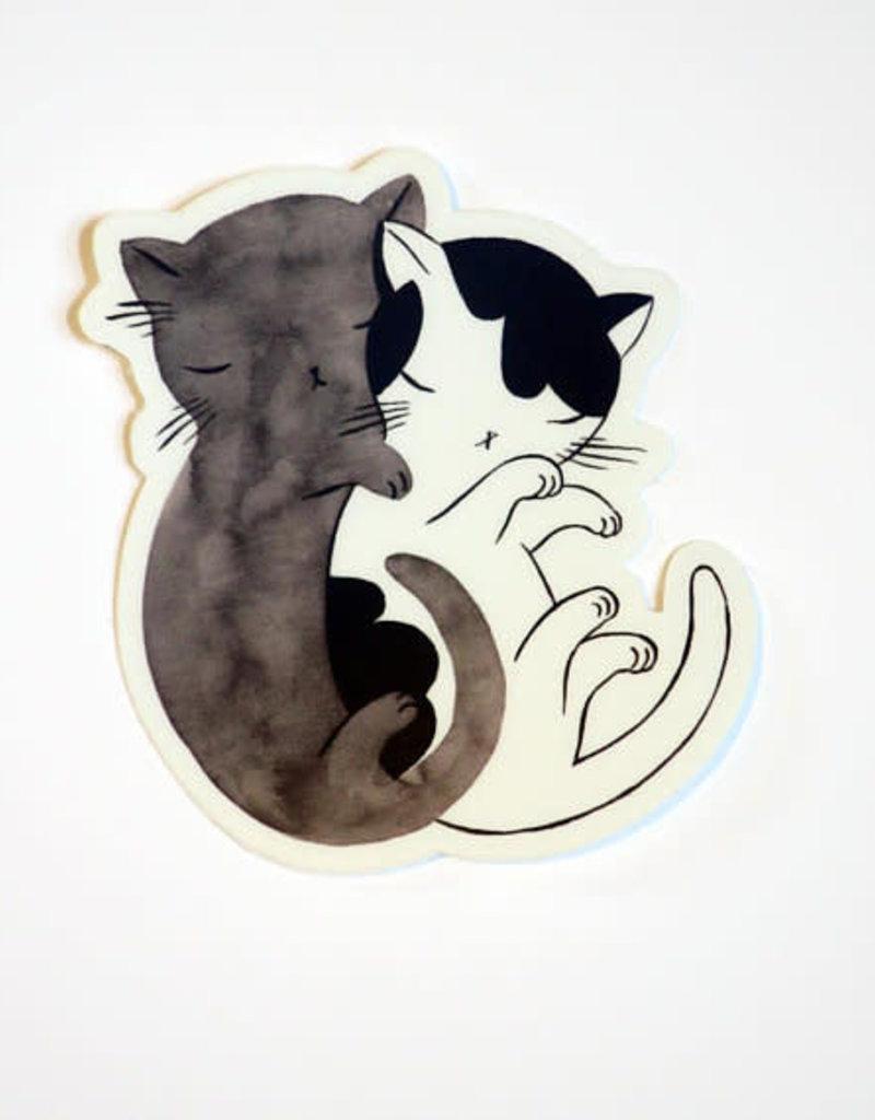 Stasia Burrington Sticker Kitty Hug Cat Spoon