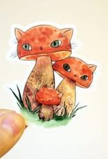 Stasia Burrington Sticker Meowshroom Boletes