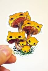 Stasia Burrington Sticker Meowshroom Chanterelles