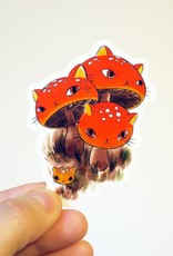 Stasia Burrington Sticker Meowshroom Fly Agaric
