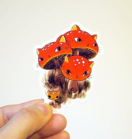 Stasia Burrington Sticker Meowshroom Fly Agaric