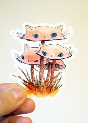 Stasia Burrington Sticker Meowshroom Pinkies